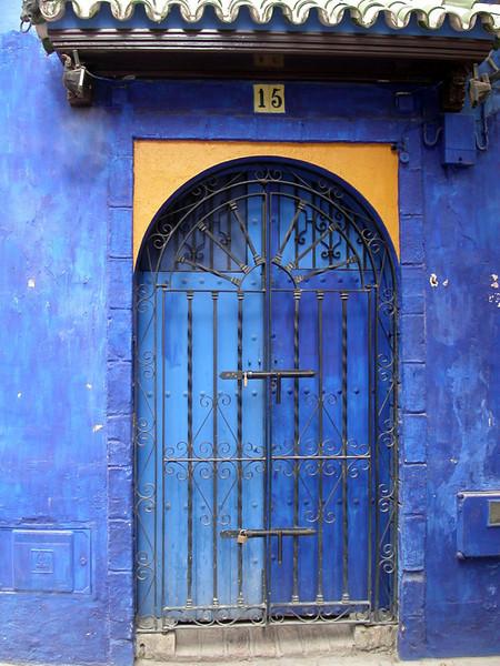 Blue door in Sevilla