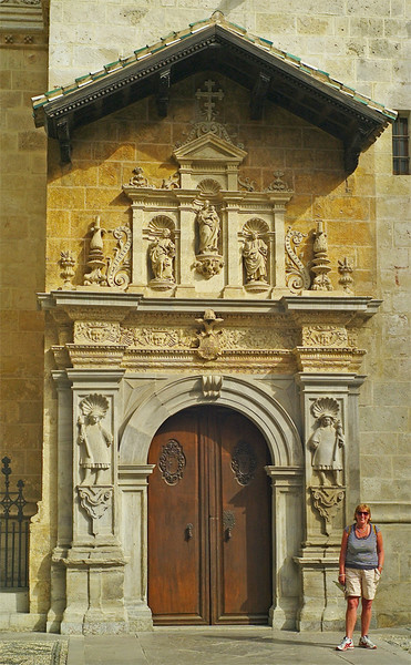 Side door to Granada Cathedral.