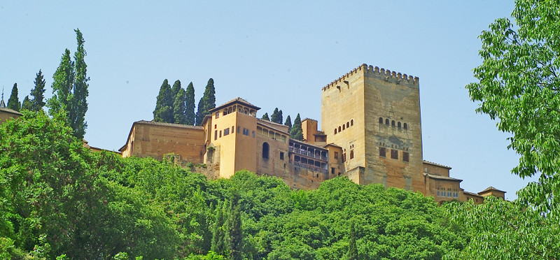 All we got to see of Granada's Alhambra :-(