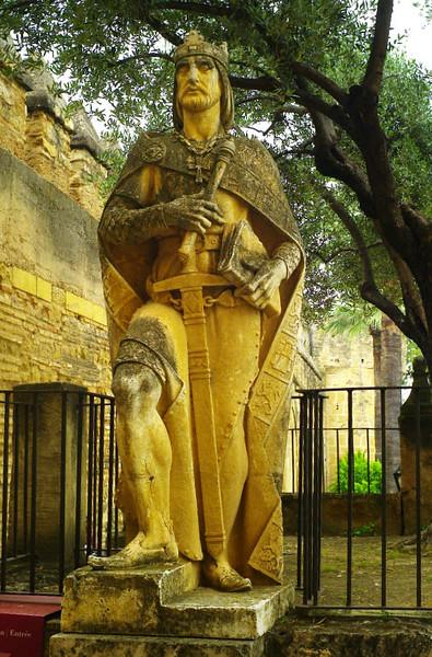 Guardian at the gate of Alcazar de Los Reyes Cristianos, Cordoba.