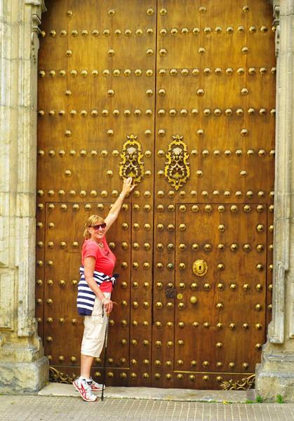 Studded door in Cordoba.