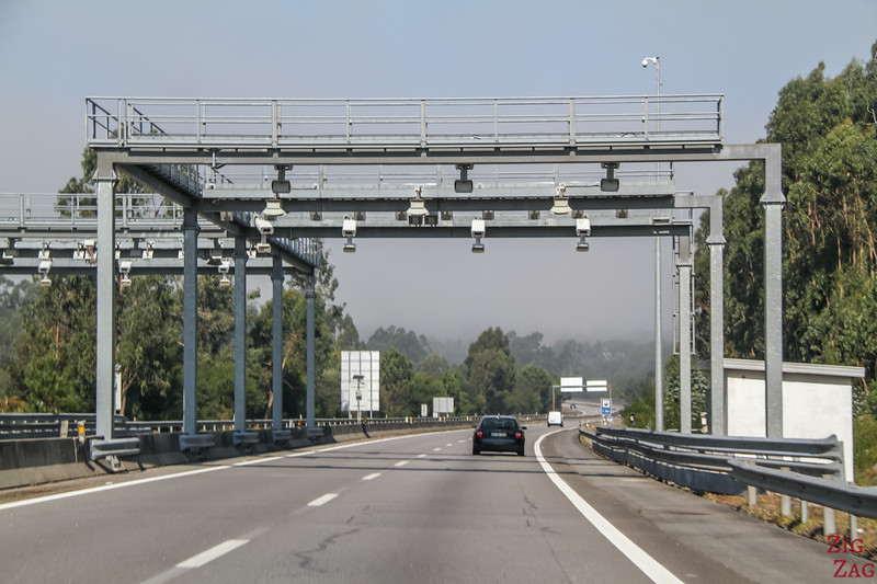 Portugal Toll Road - no booth