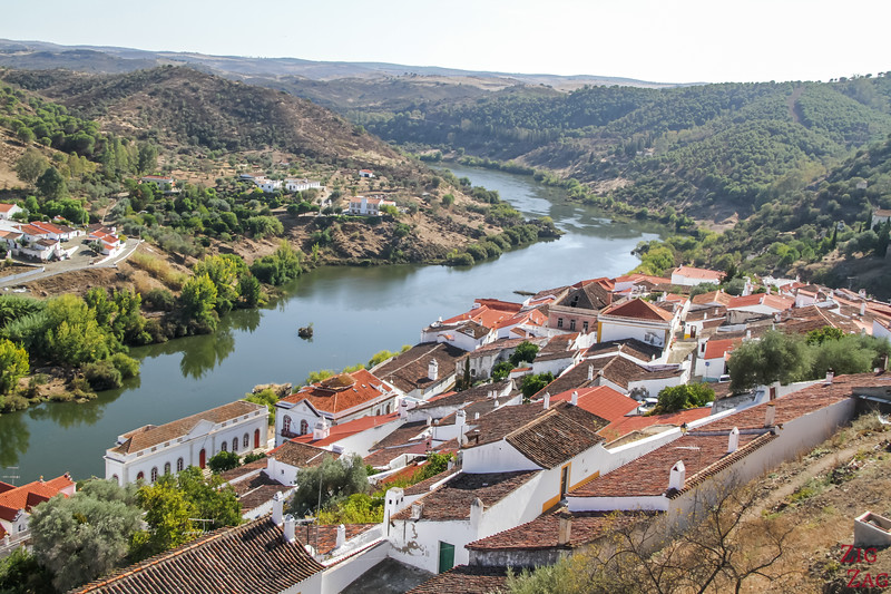 Views from Castle of Mertola portugal
