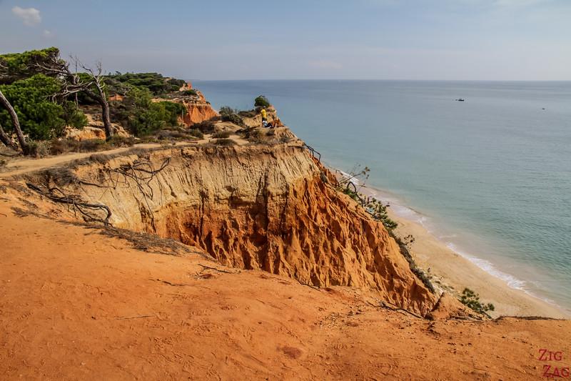Arriving at praia da Falesia Algarve 1