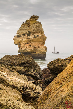 Rock formations at Praia da Marinha Algarve 4