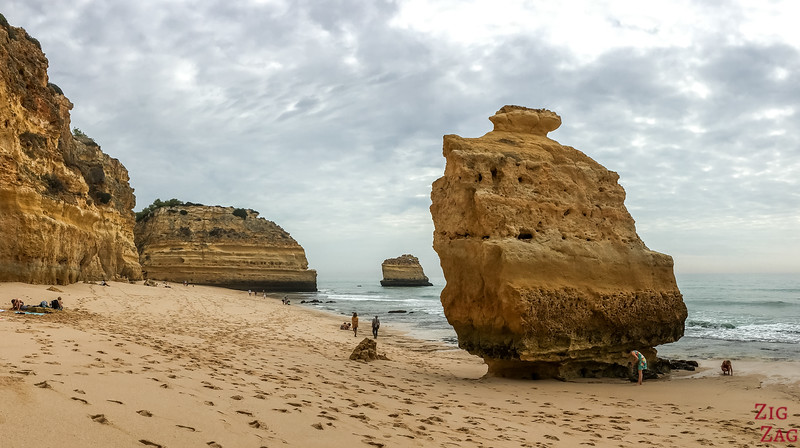 Rock formations at Praia da Marinha Algarve 1