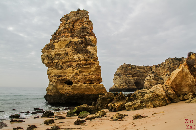 Rock formations at Praia da Marinha Algarve 3