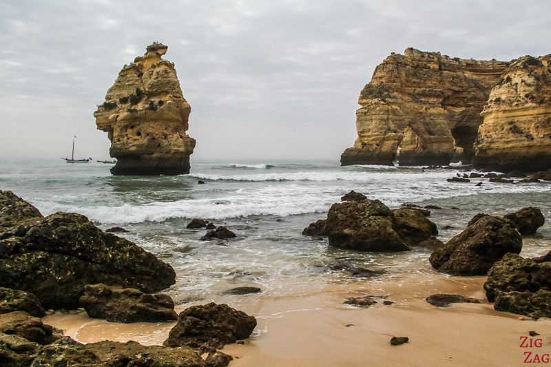 Rock formations at Praia da Marinha Algarve 5
