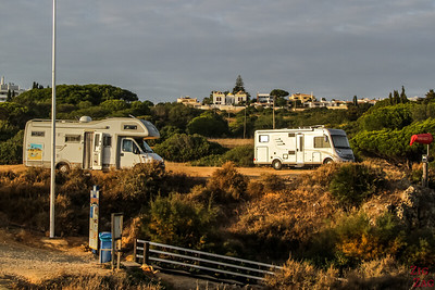 Motorhome at Praia dos arriges Algarve pORtugal