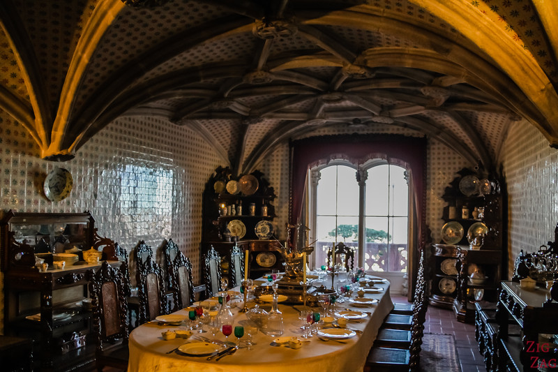 Sintra Pena Palace - Dining room