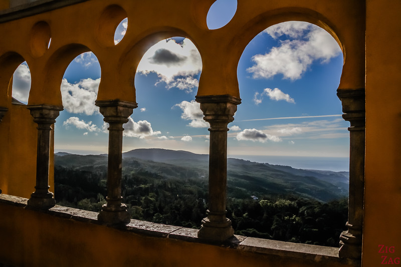 Views from Pena Palace Sintra Portugal 2