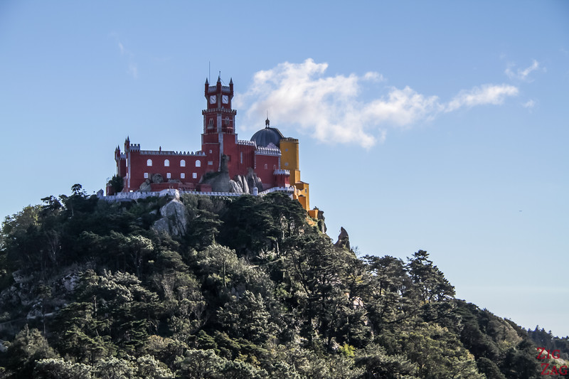 Pena Palace Sintra - view from Moorish Castle 2