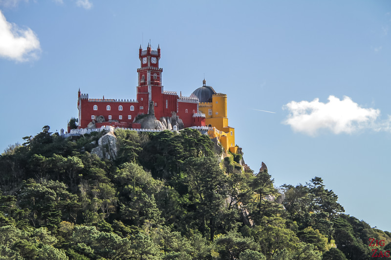 Views from Castle of the Moors Sintra Portugal Pena Palace
