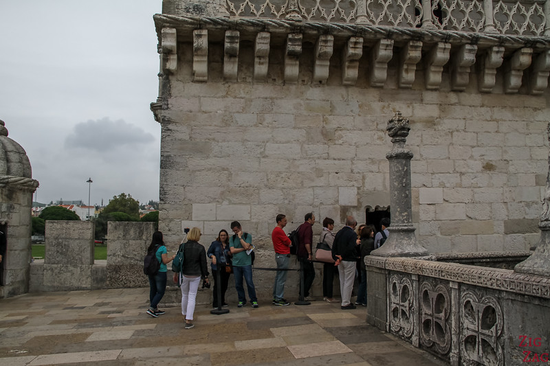 Queueing at Belem Tower