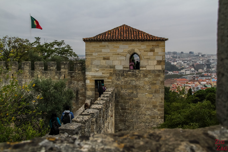 Exploring the Lisbon Castle of Sao Jorge 6