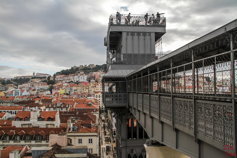 Things to do see in Lisbon 3 days - Santa Justa Lift and panoramic platflorm