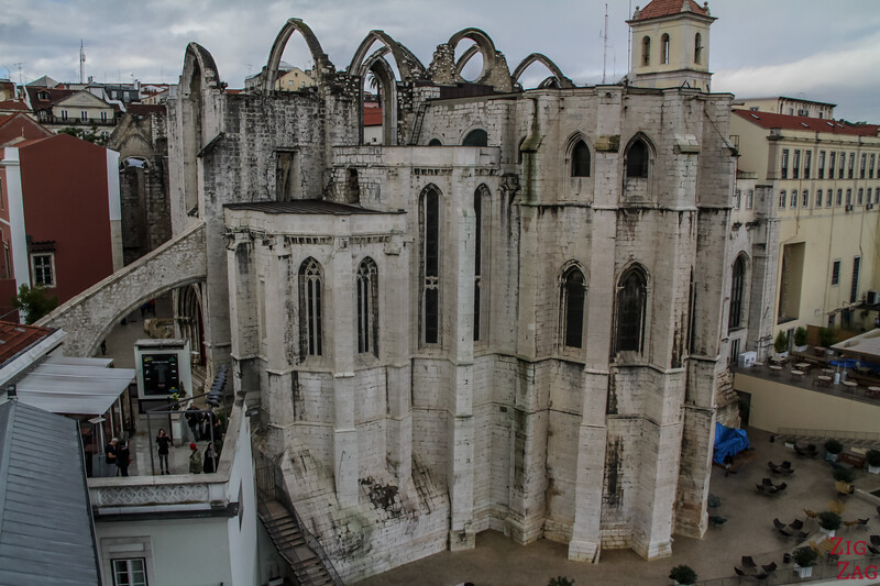Visit Lisbon in 3 days - Carmo convent ruins from earthquake