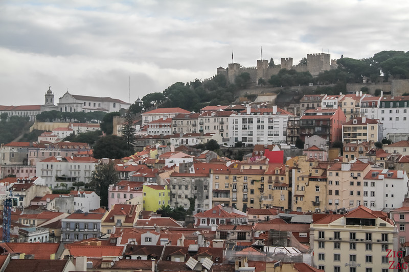 Views of Lisbon Castle of Sao Jorge 2