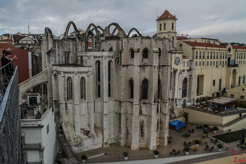Carmo Convent view from Santa Justa Lift