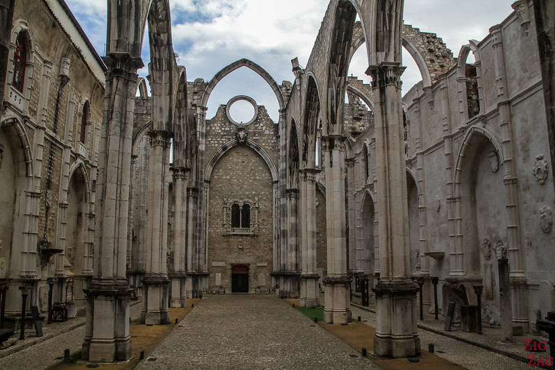 Ruins of Carmo Church Lisbon 1