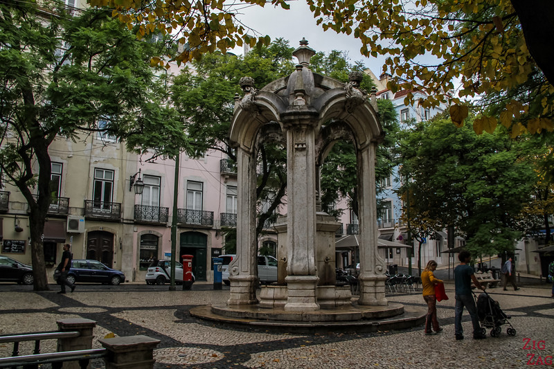 Largo do Carmo place Lisbon