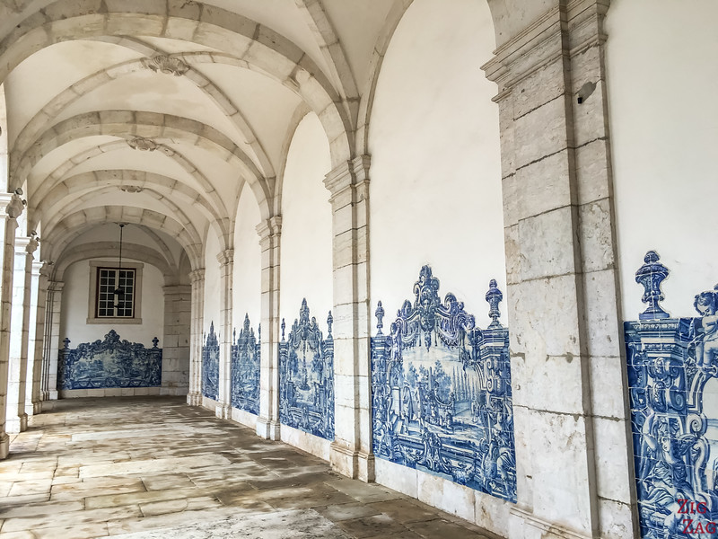 Things to do in Lisbon Portugal - sao Vincente cloister with azulejos tiles
