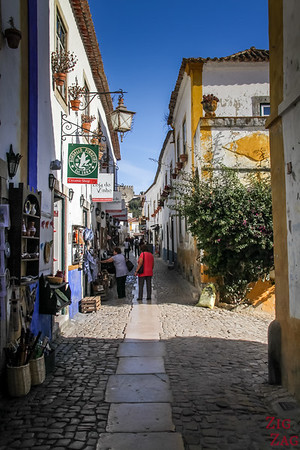 Main Street in Obidos Portugal