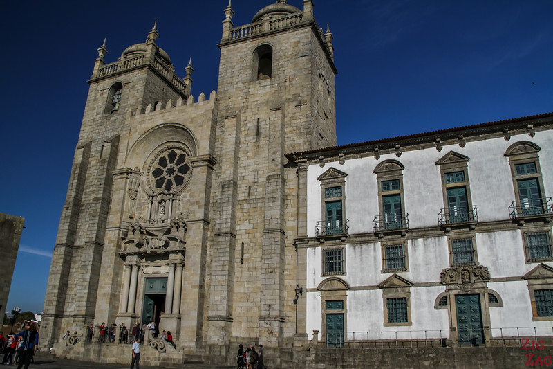 Entrance Cathedral Porto Portugal