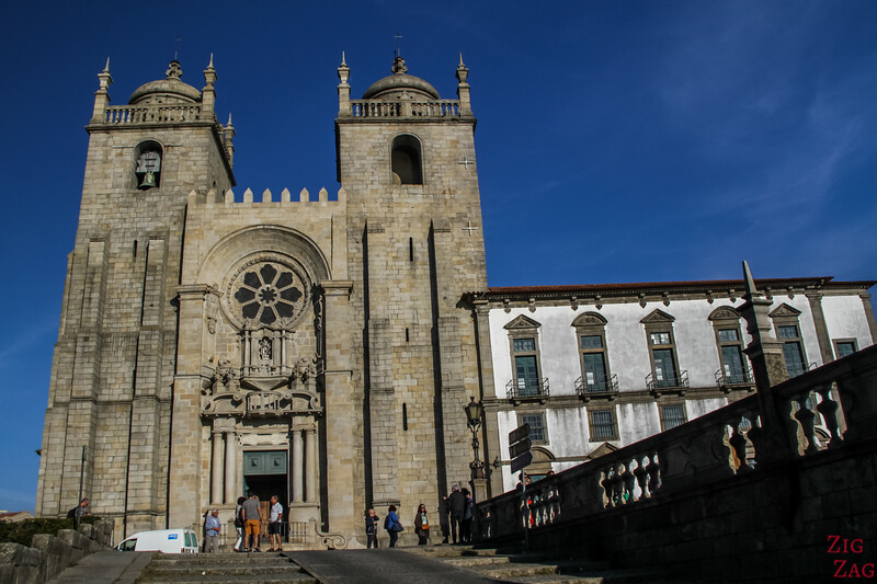 Entrance Cathedral Porto Portugal 2