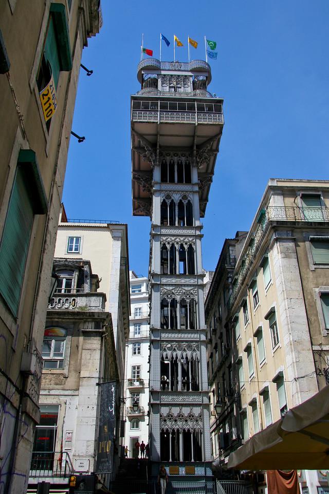 Elevador de Santa Justa in Lisbon. Over a century old.