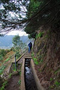 Levada do Castelejo (Referta) - 6K 25 December 2011 Interesting Bridge (steps) over the Levada ...