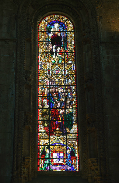 Stained  Glass Winmdow, Church Santa Maria de Belém Interior
