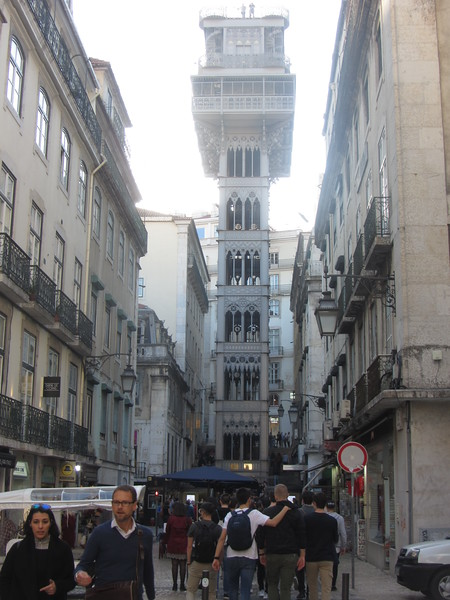 I was jet lagged and slept late Fortunately the hotel served breakdfast until 10:30.  Lisbon has hills steep enough that there are many public elevators that let you enter at the bottom and exit to another street from the top floor.