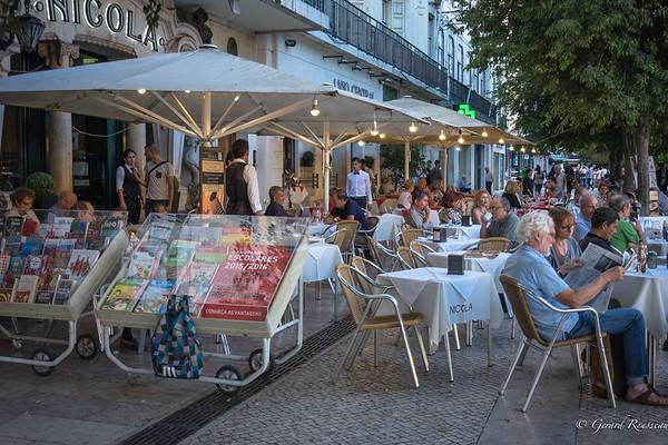 Terrasse centre de Lisbonne