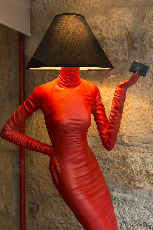 The red mannequin, Porto, Portugal