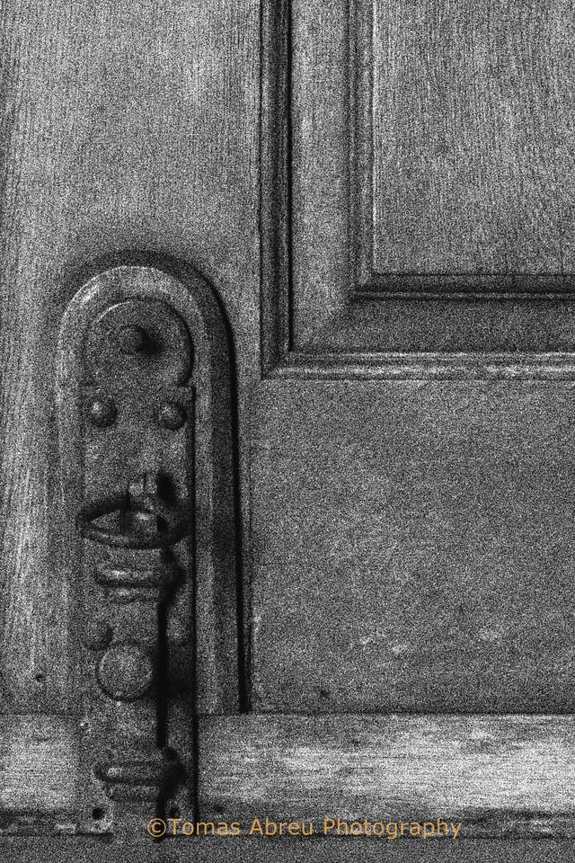 Detail of old door hardware