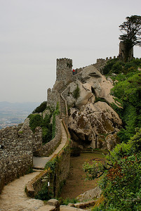 Maurilaislinna Sintrassa. - The Castle of the Moors at Sintra, Portugal, 2007