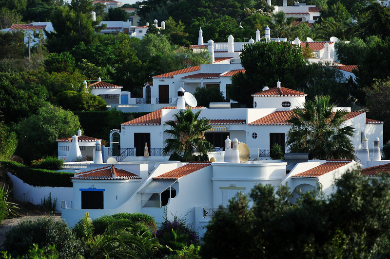 Luxury white villas in Algarve Portugal