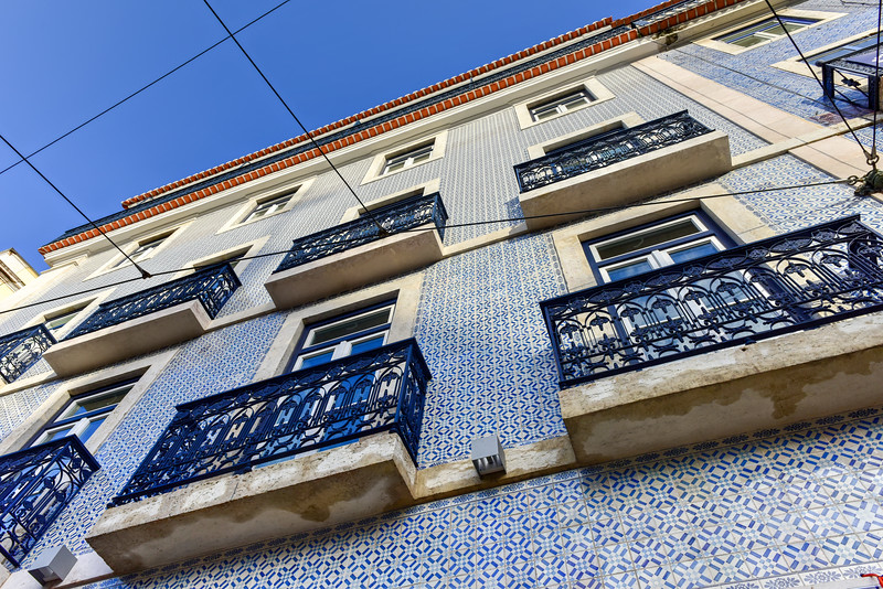 Tiles of Lisbon Building Facade