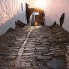 Enjoying sunrise in the cobbled alleys of Monsaraz, Alentejo, a town declared one of the 7 wonders of Portugal.