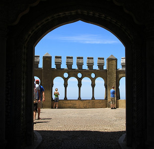 Palacio da Pena, Sintra - The courtyard outside the chapel.