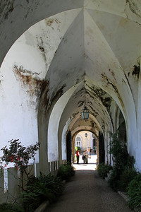 Palacio da Pena, Sintra - The entrance corridor into the palace.