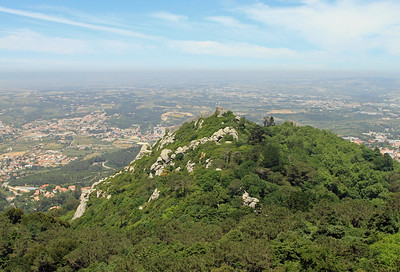 Hilltop above Sintra with the remains of Castelo dos Mouros, an old Moorish castle.