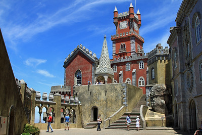 Palacio da Pena, Sintra - The chapel and courtyard.
