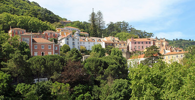 Houses in the old town of Sintra.