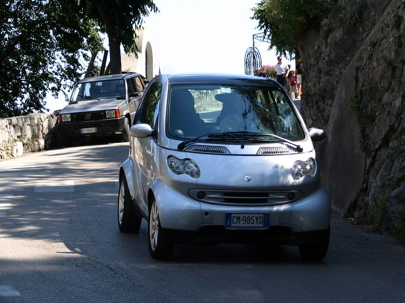 the Smart car was the perfect size for the one-way road leading to Positano's center