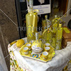 Limoncello liquor on display at Positano, Italy.