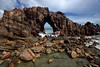 "A view of the ""Pedra Furada"" or natural bridge rock formation in Jericoacoara in Brazil's northeastern Ceara state.(Australfoto/Douglas Engle)"