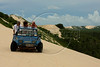 Tourists take a buggy tour near Jericoacoara in Brazil's northeastern Ceara state.(Australfoto/Douglas Engle)