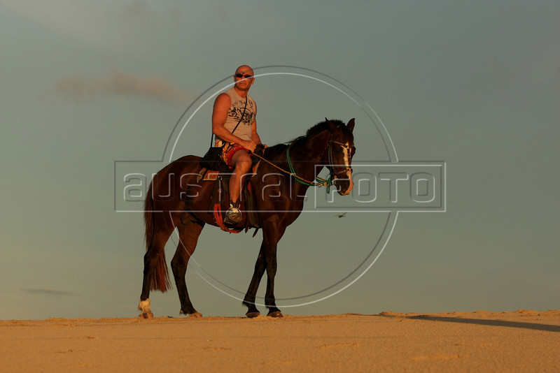 Horseback riding is one of the many tour options in Jericoacoara in Brazil's northeastern Ceara state.(Australfoto/Douglas Engle)
